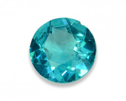 0.84 Cts Stunning Lustrous Paraiba Color Round Apatite