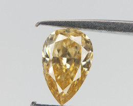0.23 CTS , Orangy Champagne  Diamond  , Diamond For Jewelry