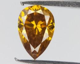 Natural yellow Diamond , Pear Cut , 0.25 CTS