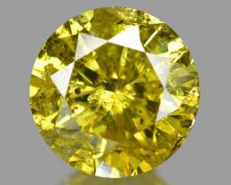 0.41 Cts Sparkling Rare Fancy Vivid Yellow Color Natural Loose Diamond