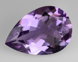 3.84 Cts Sparkling  Amethyst Brilliant Color and Cut ~ AM7