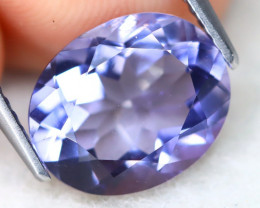 Iolite 3.02Ct VVS Oval Cut Natural Purplish Blue Color Iolite B0401