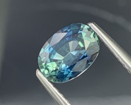 Certified 1.11 Cts Amazing Bluish Green Top Quality Natural Sapphire