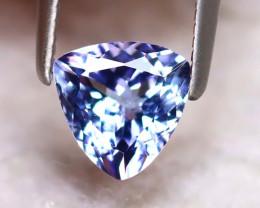 Tanzanite 0.90Ct Natural VVS Purplish Blue Tanzanite DF0626/D3