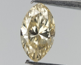 0.20 cts ,Very Light Champagne Diamond , Marquise Brilliant Cut