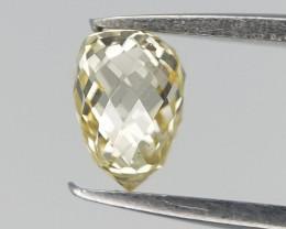 0.21 cts , Briolette Diamond , Very Light Yellow