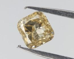0.20 CTS , Cushion Brilliant Cut Diamond , Light Yellow Diamond