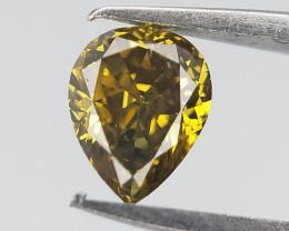 0.21 cts , Pear Brilliant Diamond , Fancy Color Diamond