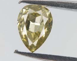 0.20 CTS ,  Light Yellow Diamond , Pear Diamond