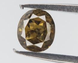 0.19 cts , Fancy Colored Diamond , Oval Brilliant Diamond