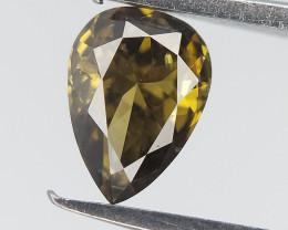 0.20 cts , Deep Color Diamond , Natural Pear Cut