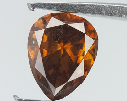 0.19 CT , Rarest Orangy Red Diamond , Pear Brilliant cut