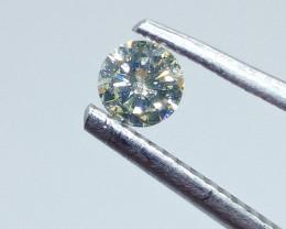 0.245ct Fancy Light Yellow Green  Diamond , 100% Natural Untreated