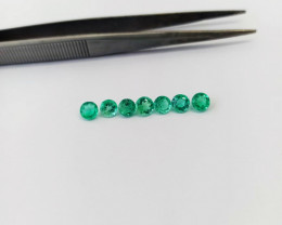 3.0ct Colombian Emerald Lot Calibrated Certified