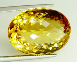 35.96 ct. 100% Natural Top Yellow Golden Citrine Unheated -IGE Certificat