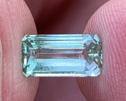 2.20 carats Bluish Green colour Tourmaline Gemstone  From Afghanistan