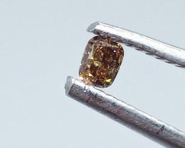 0.15ct  Fancy Deep Pinkish Brown Diamond , 100% Natural Untreated
