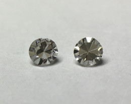 0.03 ct 2 x Fancy Light Grey VS Single Cut Round Diamond
