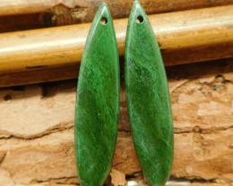 Gemstone african jade earring bead (G2120)