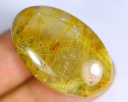36.42cts Natural Golden Rutiled Quartz /KL434