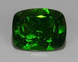 2.05 Cts MARVELOUS RARE CUSHION NATURAL TOP GREEN- CHROME DIOPSIDE