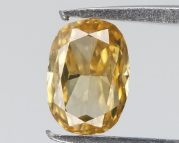 0.18 cts , Cushion Brilliant Cut Diamond , Light Yellow Diamond