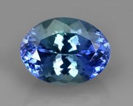 1.95 CTS~SPECTACULAR NATURAL ULTRA RARE LUSTER BLUE TANZANITE~$620.00