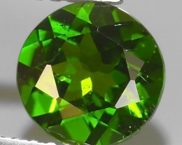 1.30 CTS NATURAL ULTRA RARE CHROME GREEN DIOPSIDE  RUSSIA NR!!