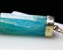 26.30 CT Natural - Unheated Blue Aquamarine Pendant