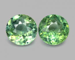 2.67 Cts 2 Pcs Un Heated Natural Green Apatite Loose Gemstone