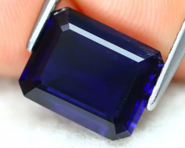 Iolite 2.61Ct VS2 Octogon Cut Natural Purplish Blue Color Iolite B0504