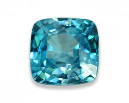 1.62 Cts Dazzling Lustrous Cambodian Blue Zircon