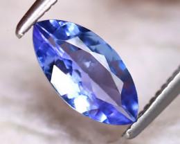 Tanzanite 0.80Ct Natural VVS Purplish Blue Tanzanite EF0719/D3