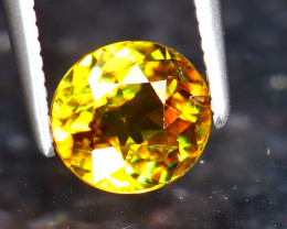 Sphene 1.05Ct Natural Rainbow Flash Green Sphene ER217/S41