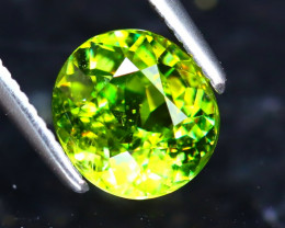 Sphene 1.34Ct Natural Rainbow Flash Green Sphene ER219/S41