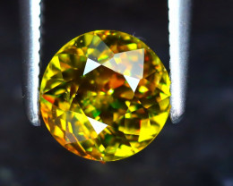 Sphene 1.40Ct Natural Rainbow Flash Green Sphene ER220/S41