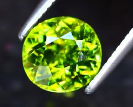 Sphene 1.55Ct Natural Rainbow Flash Green Sphene ER222/S41