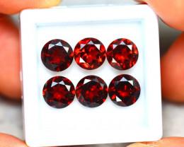 Almandine 9.30Ct 6Pcs Natural Vivid Blood Red Almandine Garnet ER439/B3
