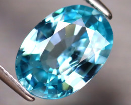 Blue Zircon 4.08Ct Natural Cambodian Blue Zircon ER225/A31