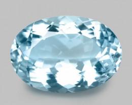 2.26 Cts Un Heated  Blue  Natural Aquamarine Loose Gemstone