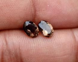 7x5 mm Smoky Quartz Gemstone Pair 100% Natural and Untreated Gems VA3595