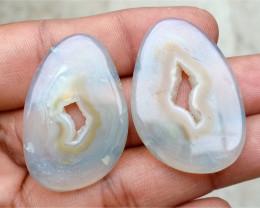Fancy Shape Onyx Pair 100% Natural Gemstones VA3598