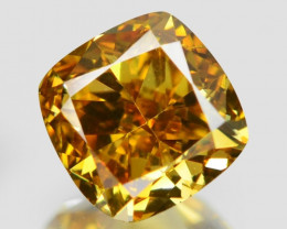 *No Reserve* Diamond 0.46 Cts Untreated Fancy Vivid Orange Yellow Color Nat