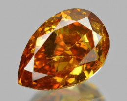 *NoReserve* Diamond 0.19 Cts Untreated Fancy Vivid Yellow Orange Color Natu