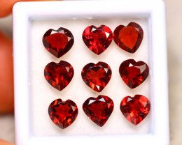 Rhodolite 7.50Ct 9Pcs Natural Red Rhodolite Garnet  ER198/B27