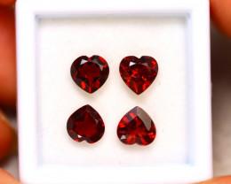 Rhodolite 3.50Ct 4Pcs Natural Red Rhodolite Garnet ER199/B27