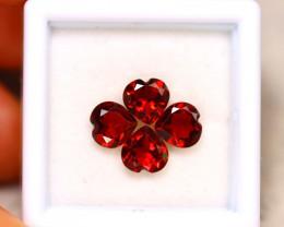 Rhodolite 3.40Ct 4Pcs Natural Red Rhodolite Garnet ER200/B27