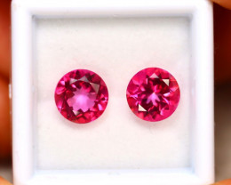 Pink Topaz 4.40Ct 2Pcs Natural IF Pink Topaz ER204/A35
