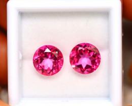 Pink Topaz 5.00Ct 2Pcs Natural IF Pink Topaz ER205/A35