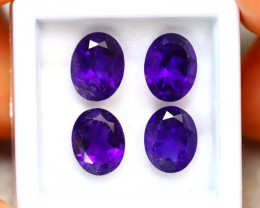 Amethyst 7.20Ct 4Pcs Natural Uruguay Electric Purple Amethyst ER213/A2